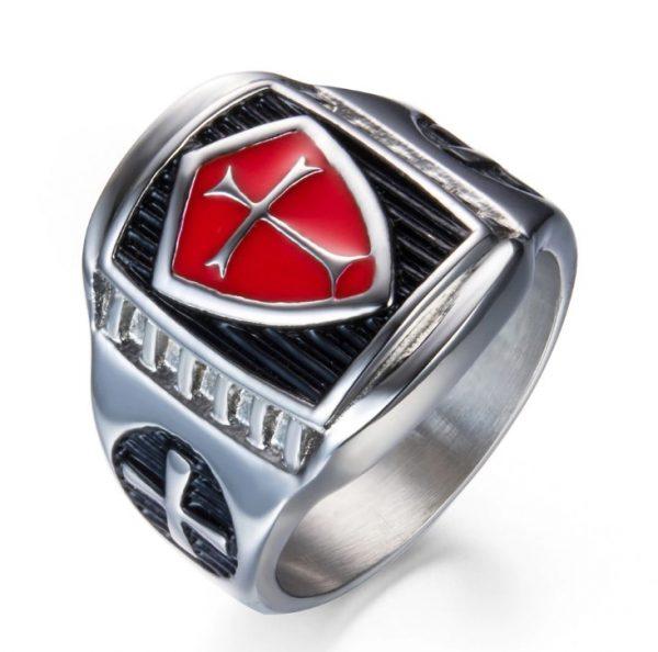 Armor Shield Knight Templar Crusade Ring