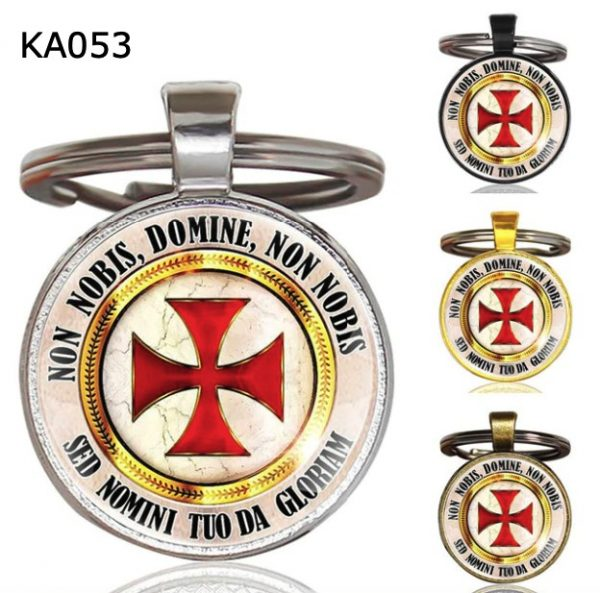 Knight Templar Cross Pendant Key Chain KA053