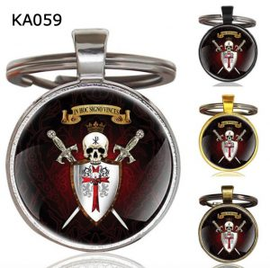 Knight Templar Cross Pendant Key Chain KA059