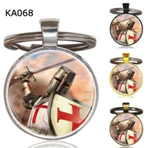 Knight Templar Cross Pendant Key Chain KA068