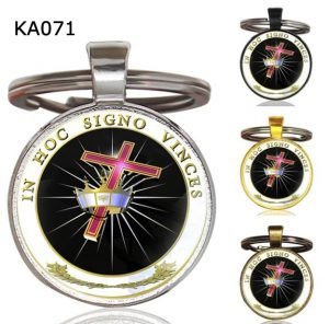 Knight Templar Cross Pendant Key Chain KA071
