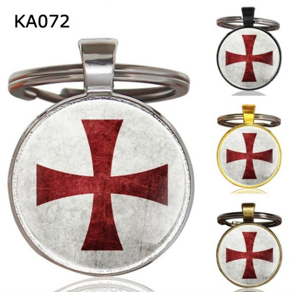 Knight Templar Cross Pendant Key ChainKA072