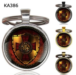 Knight Templar Cross Pendant Key Chain KA386