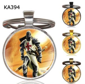 Knight Templar Cross Pendant Key Chain KA394