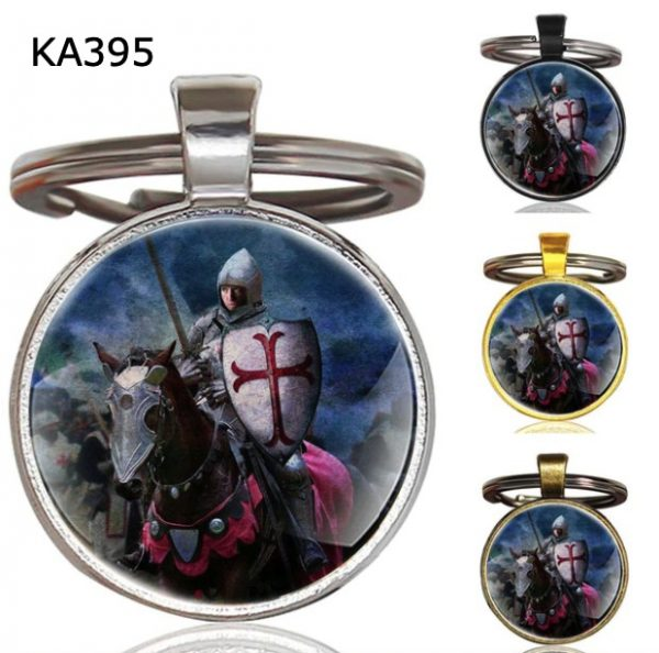 Knight Templar Cross Pendant Key Chain KA395