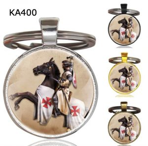 Knight Templar Cross Pendant Key Chain KA400