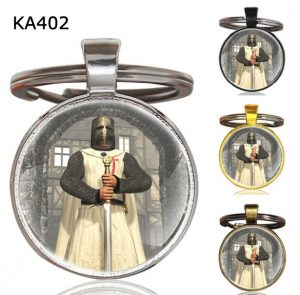 Knight Templar Cross Pendant Key Chain KA402