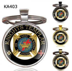 Knight Templar Cross Pendant Key Chain KA403