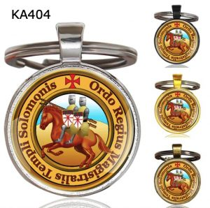 Knight Templar Cross Pendant Key Chain KA404