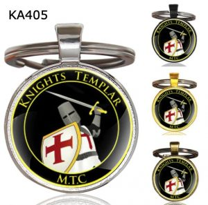 Knight Templar Cross Pendant Key Chain KA405