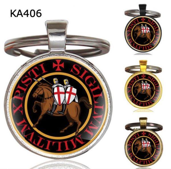 Knight Templar Cross Pendant KeyChain KA406