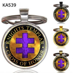 Knight Templar Cross Pendant Key ChainKA539