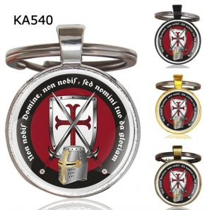 Knight Templar Cross Pendant Key Chain KA540