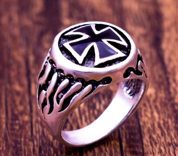 Knight Templar Crusade Cross Ring