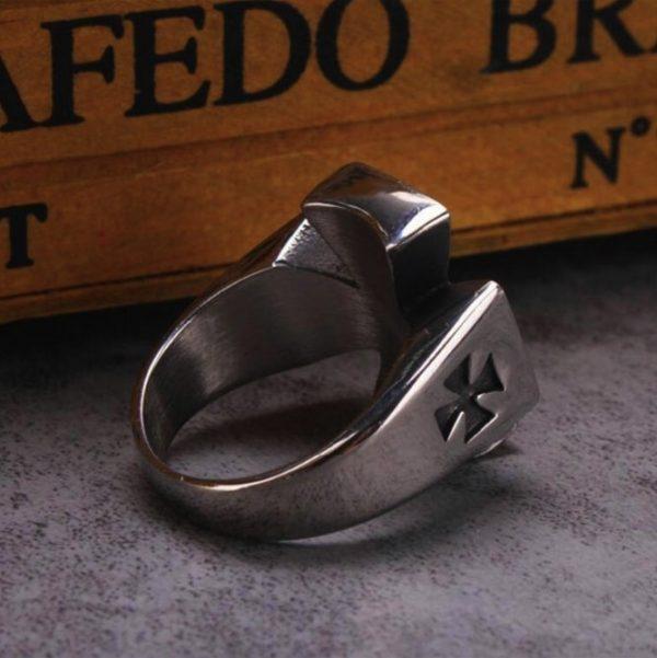 Knights Templar Black Cross Ring