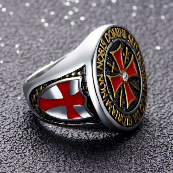 Knights Templar Cross Ring