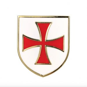 Knights Templar Red Cross White Shield Pin