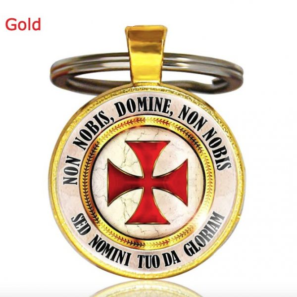 Knight Templar Cross Pendant Key Chain