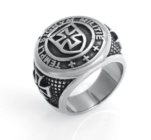 knights templar iron cross ring