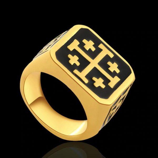 Jerusalem Cross Knight Templar Ring