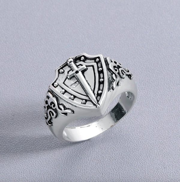 Knight Templar Armor Shield Sword Ring