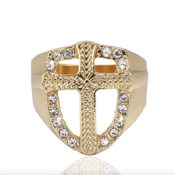 Knights Templar Armor Crusader Cross Signet Ring