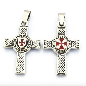 Two Sides Knights Templar Cross Pendant
