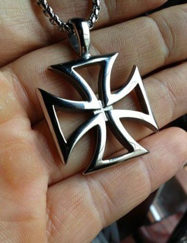 Knights Templar Iron Maltese Cross Pendant