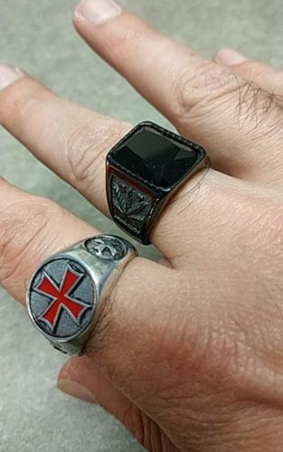 cross templar ring