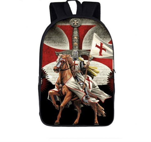 knights templar backpack